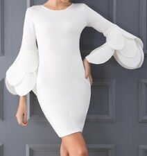 Women Dress White Size S New Coctail Party 3/4sleeves