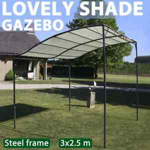 vidaXL Gazebo Fabric Cream White Outdoor Garden Canopy Shelter Tent Carport