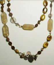 SILPADA Sterling Silver, Pearl, Copper, Tiger's Eye Necklace N1826