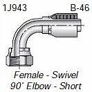 "HF 1J943-10-12 - Parker 1J943-10-12 Fitting 3/4"" Hose X 5/8"" Female Seal-Lok - S"