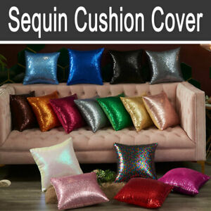 1x Sequin Cushion Cover Sparkly Glitter Throw Pillow Cover - 40x40cm - 13 Colors