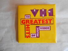 Vintage VH1 Video Hits One Television Network Greatest Hits of Video Pinback