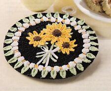 CHEERFUL Sunflower Bouquet Potholder/Decor/Crochet Pattern INSTRUCTIONS ONLY
