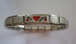 Italian Charms Bracelet Cat  Red Love Heart    Love My Sphynx