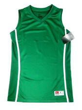 NIKE GIRLS GREEN WHITE V NECK SPORT ACTIVE BASKETBALL TOP SHIRT JERSEY L NWT $30