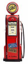 GAS PUMP GASOLINE with CLOCK replica tin toy tinplate handmade retro vintage