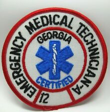 Vintage Patch - EMT - Georgia - Emergency Medical Technician - Collectible