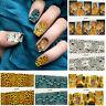 Retro Water Transfer Nail Full Wrap Stickers leopard Animal Print Nail Art Decal
