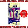 Cover case custodia protettiva in tpu per Nokia Lumia 630 fantasia STILE VINTAGE