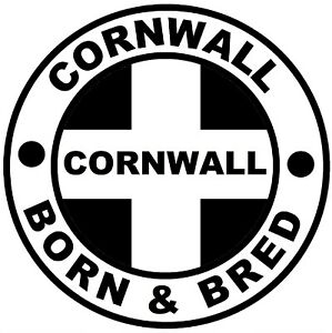 CORNWALL BORN & BRED - NOVELTY CAR / WINDOW / DECAL STICKER + 1 FREE / GIFTS