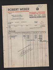 WERMELSKIRCHEN, Rechnung 1931, Robert Weber Bergische Eisenblechwaren-Fabrik