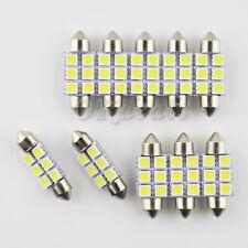 10PCS 36mm 3W 270lm 6-SMD 5050 Bombilla 6000~6500K LED Blanco Luz Del Coche