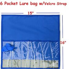 1 pcs Blue Fishing Lure Bag - 6 Pocket Storage Jig bait bags