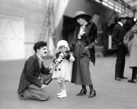 8x10 Print Charlie Chaplin Pictured with Mary Pickford and her Daughter #CCAF
