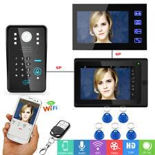 "7""LCD Wired /Wireless Wifi Video Door Phone Doorbell Intercom System HD Camera"