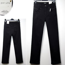 PER UNA Luxe Feel STRAIGHT Leg ROMA FIT Embellished JEANS ~ 18 Long ~ BLACK
