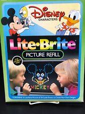 Vtg Lite Brite 11 Unused Pictures 20 Guide Sheets Disney Design Pages