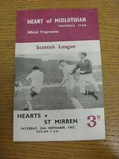 24/11/1962 Heart Of Midlothian v St Mirren  (rusty staple & bleed). Thanks for v