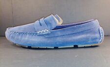 COLE HAAN SIGNATURE #C27001 BLUE SUEDE SHOES MOC DRIVING LOAFERS (9.5 M)