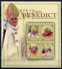Tuvalu 2010 Papst Benedikt Pope Benedict Religion 1559-1562 Kleinbogen MNH