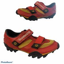 Shimano 98A SPD Cycling Road Bike Circuit Shoes Red Eur 44 Size US 10 sh-m080r