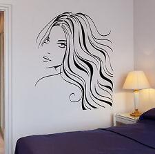 Wall Stickers Sexy Woman Beauty Salon Hair Barber Art Mural Vinyl Decal (ig1917)