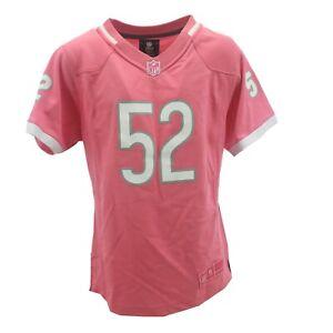 Chicago Bears NFL  Children's Kids Youth Girls Size Khalil Mack Pink Jersey New