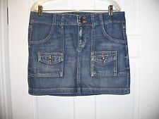 Old Navy Denim Blue Jean Skirt Size 8 Above the Knee 100% Cotton
