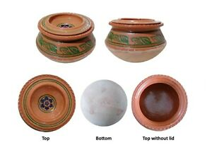 Clay Cooking  Handi With Lid