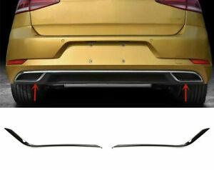 Set Chrom Edelstahl Auspuffblende Abdeckung für VW Golf 7+ Sportsvan A14