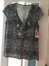 Animal print top/blouse, 1X