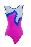 Gymnastic Leotard Girls Sport Gym Dance Disco Velvet Sparkly No Sleeves Q NS PWB