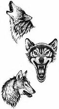 Wolf Protector 2Temporary Fake Tattoos Waterpoof Luck Fertility Bonding Transfer