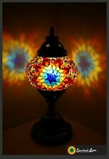 Mosaik M Mosaiklampe orientalische Lampe Samarkand-Lights Orange - Blau Stern