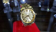 Rare Sandoz Gold Plated Swiss ETA 25 Jewels Auto Men's Wrist Watch Skeleton Back