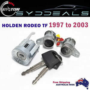 HOLDEN RODEO TF 1997 to 2003 IGNITION BARREL LOCK & 2 DOOR LOCK SET with Key AU