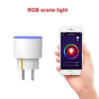 WiFi Smart Plug Wandsteckdose Fernbedienung Für Alexa Google Home LED Monit DTW