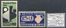1951 IX Triennale di Milano - 2 valori NUOVI MNH Repubblica S149