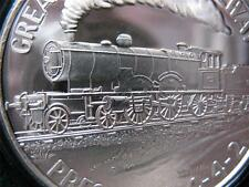 1-OZ.999 SILVER COIN GREAT WESTERN   R.R  VINTAGE PRESIDENT TRAIN 4-4-2 + GOLD
