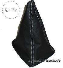 SCHALTSACK SCHALTMANSCHETTE passend für AUDI 80 90 B3 B4  Naht Weiss -Echt Leder