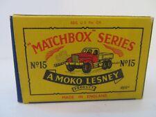 Matchbox Moko Lesney Prime Mover 15a Type B2 EMPTY ORIGINAL BOX ONLY - VERY RARE