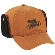 DEKALB SEED *BROWN CANVAS EAR FLAP* Logo CAP HAT *BRAND NEW* K-Products DS38