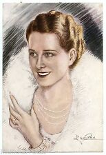 Grand Chromo par CHARLES NAILLOD. NORMA SHEARER actrice Canadienne.