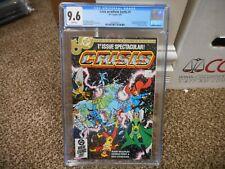 Crisis on Infinite Earths 1 cgc 9.6 1985 1st DC Blue Beetle WHITE pgs NM MINT