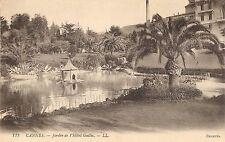 """Cannes Jardin de l'Hotel Gallia Postcard 5 1/2"""" X 3 1/2"""" Tropical Scene France"""
