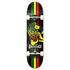 "Punked Rasta Lion Graphic Complete Skateboard 7.75"" Cruiser skateboards"