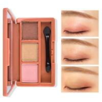 3 Colors Shimmer Matte Eyeshadow Eye Shadow Palette & Makeup Cosmetic Brush