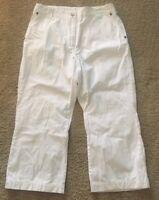 WOOLRICH Womens Cotton Capri Crop Pants Size 10 White