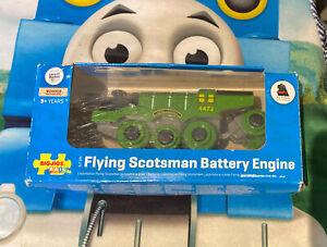 BigJigs Flying Scotsman Battery Operated Wooden Railway Train w/ Box Thomas READ