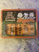 2006 Peanuts Snoopy Great Pumpkin Halloween Charlie Brown Dominos Lunch Box